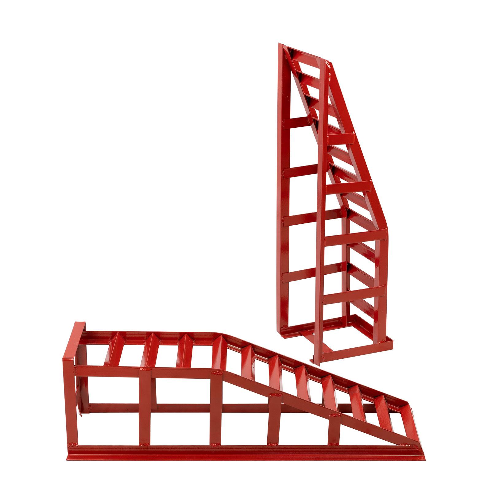 Dema 2x Stahl PKW Kfz Auto Auffahrrampen Auffahrböcke Auffahrkeil Paar bis 2000kg 2t 24590