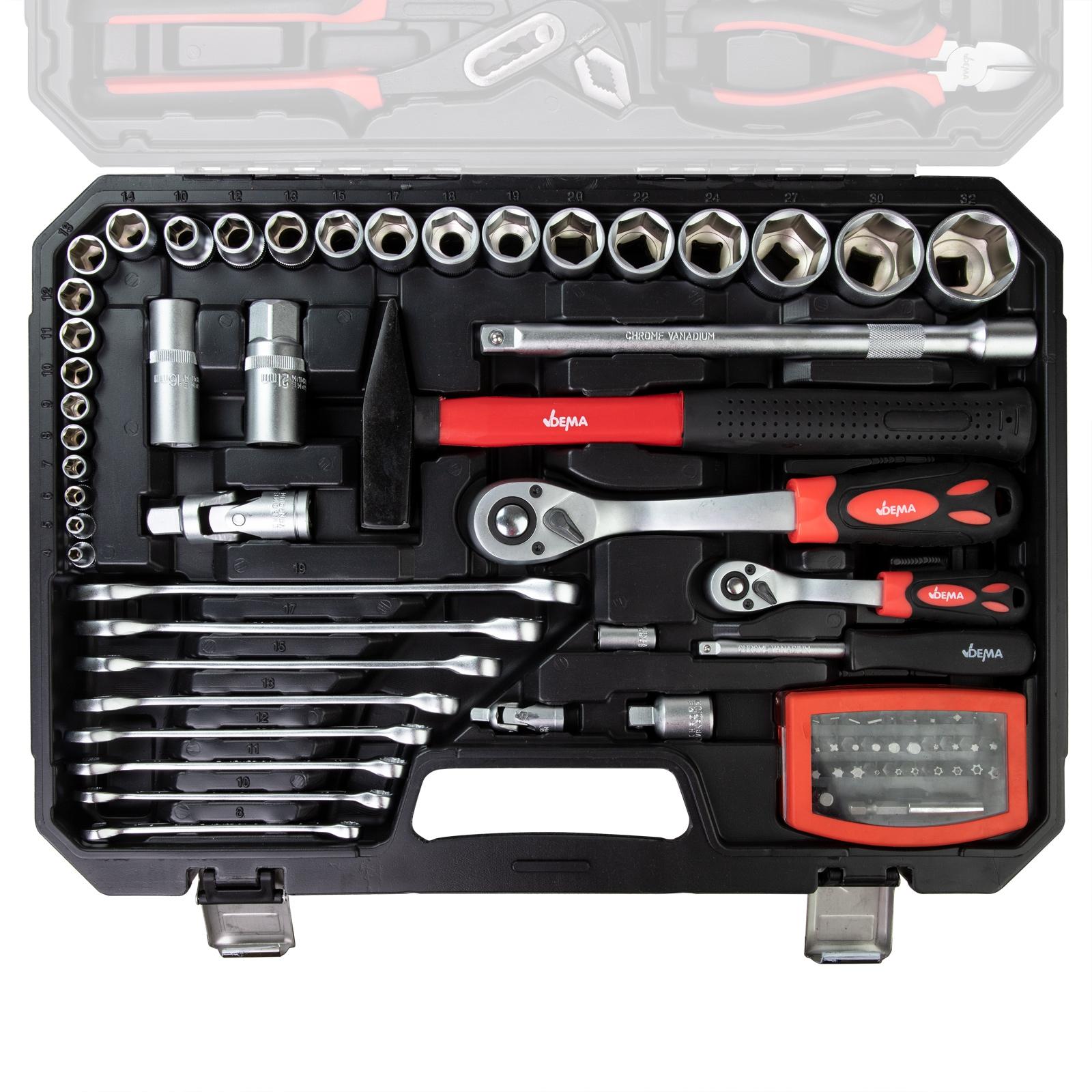 Dema Universal-Werkzeugkoffer 95 tlg. Werkzeugset 15250