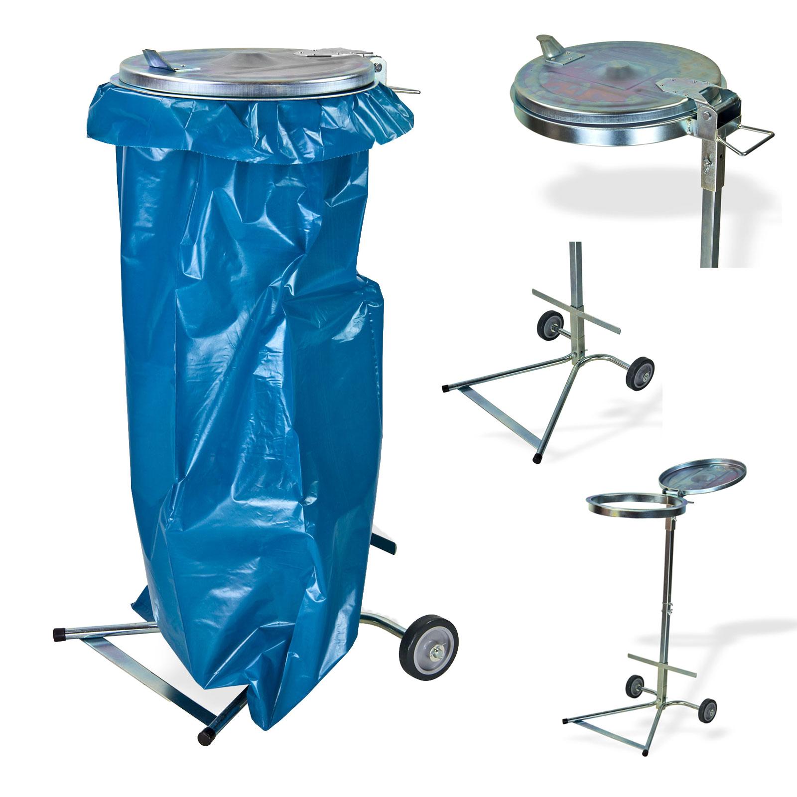 Dema Metall Müllsackständer / Abfallsammler Set mit 2 Rollen Mülsäcke 15079-15634x2