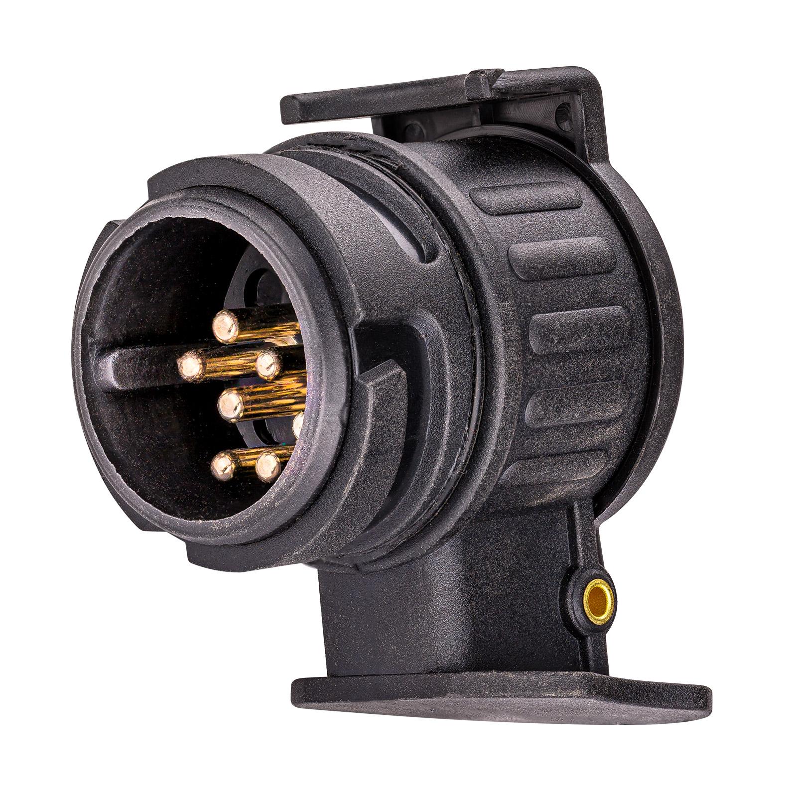 dema PKW Anhänger Anhängerzubehör Adapter kurz 13 auf 7 polig 50 mm 69092