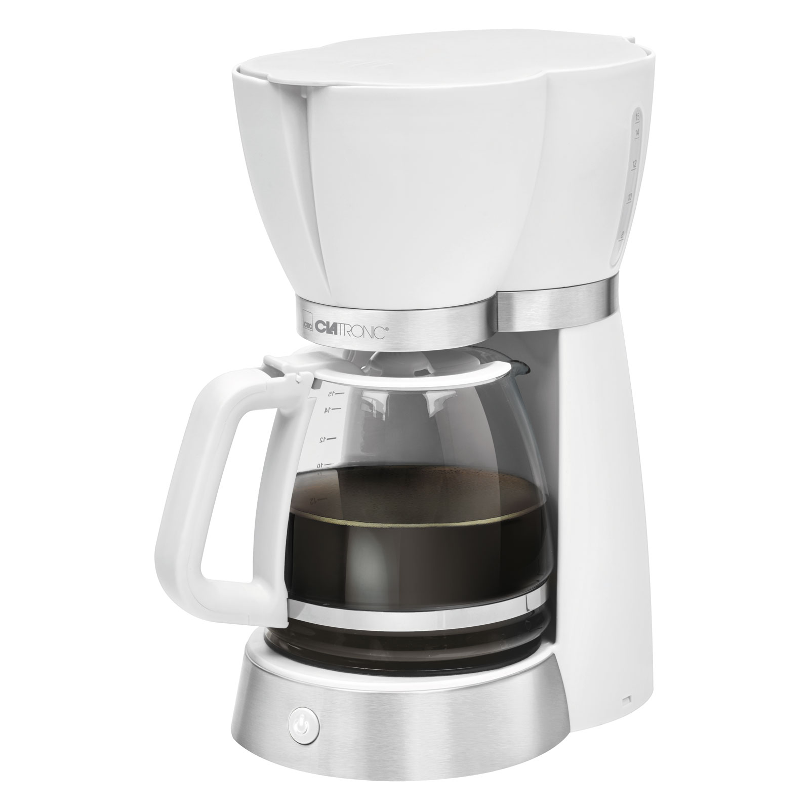 Hausmarke Clatronic KA 3689 Kaffeemaschine weiß für 15 Tassen 1,7 L 1000 W 20273