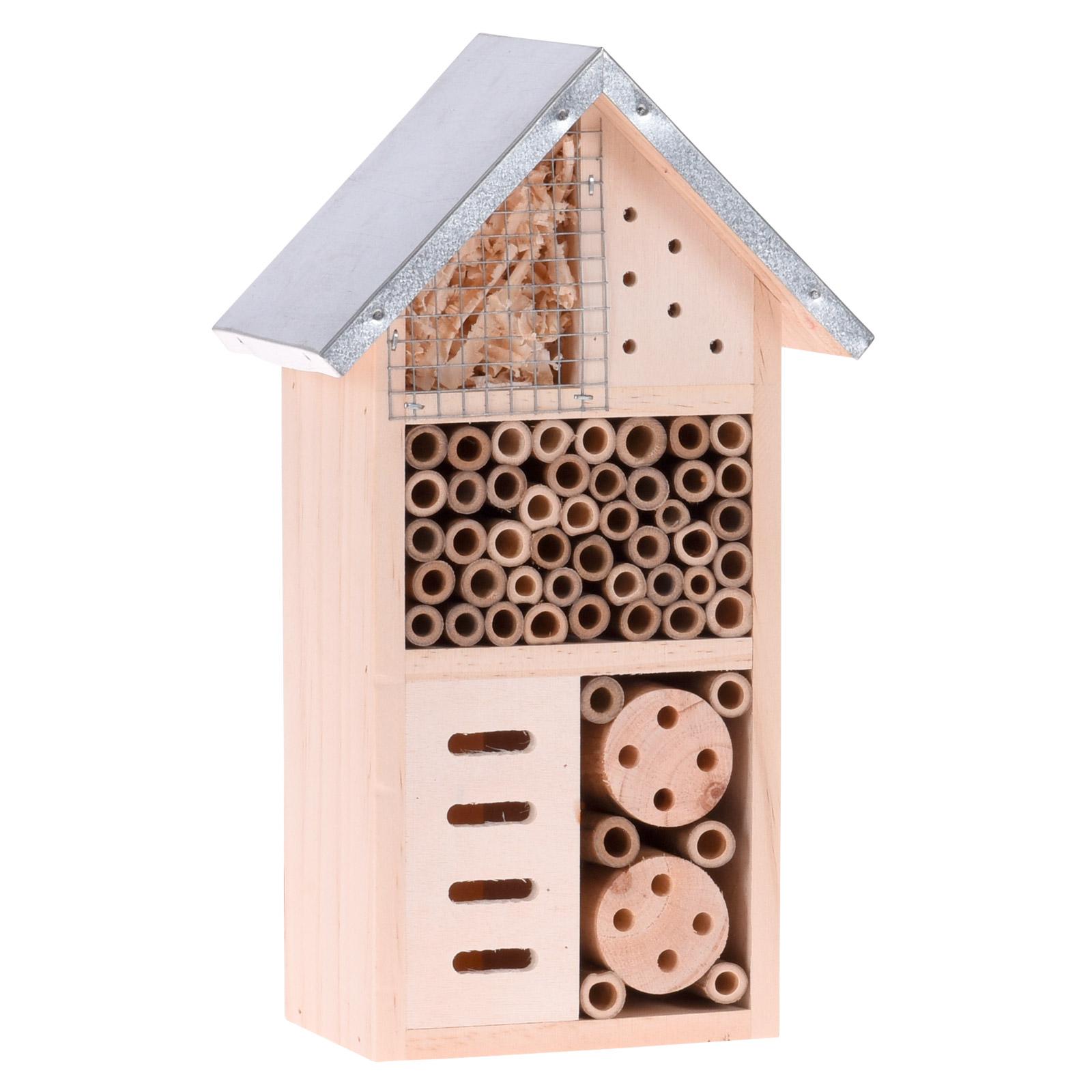 stabilo Insektenhotel Insektenhaus Insekten m. Metalldach 15x9x26 20259