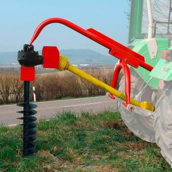 Zapfwellen Erdbohrer / Pfahlbohrer 220 mm mit Zapfwelle im Set