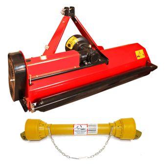 SET Schlegelmulcher SLM 125 mit Y-Messer für Traktoren 30-40 PS + Zapfwelle