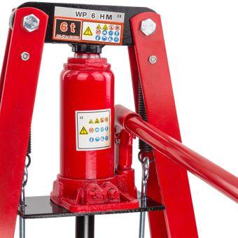 Werkstattpresse 6 Tonnen + Druckstücksatz 10-teilig Hydraulik – Bild $_i