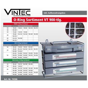 Vintec Dichtungs-Sortiment 900 tlg. O-Ringe HNBR SAE Metrisch Box – Bild $_i