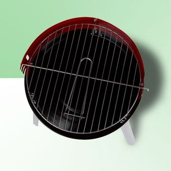 Holzkohle Rundgrill Standgrill Dreibein Grill Barbecue BBQ Lyon Ø 34 cm rot – Bild $_i