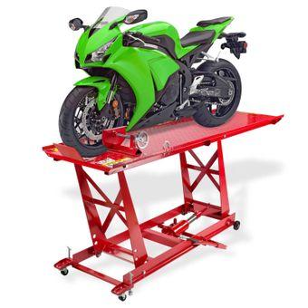 Dema Motorradhebebühne hydraulisch rot bis 450kg – Bild $_i