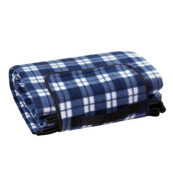 Picknickdecke Fleecedecke Stranddecke Reisedecke Campingdecke 190x130 cm blau XL – Bild $_i