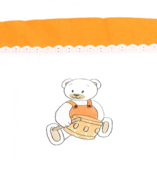 Nestchen Teddy mit Trommel in orange von HOBEA-Germany