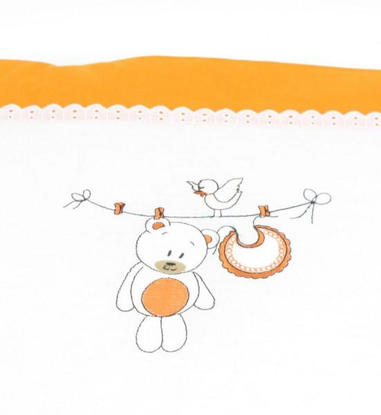 Nestchen Teddy, Wäscheleine orange von HOBEA-Germany