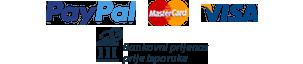 Paypal, Visa, Mastercard