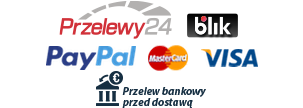 Przelewy24, Blik, Paypal, Mastercard, Visa