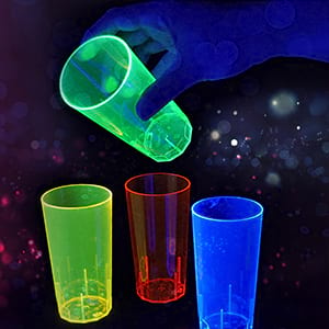 Blacklight cups