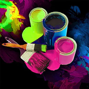 Blacklight paint