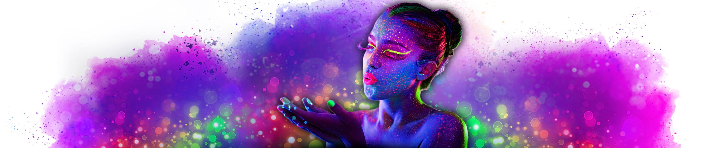 Blacklight makeup