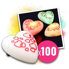 100x Love messenger knipperhart – Bild 1