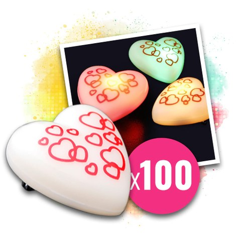 LED брошка Love messenger - 100 бр.