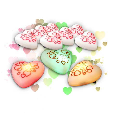 10x Love messenger flashing heart