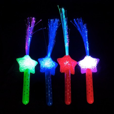 10x LED-waaier multicolor - Ster