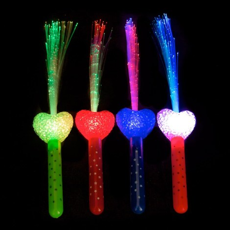10x Fibre optic torch Heart