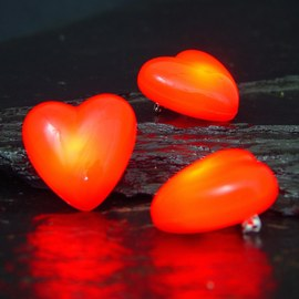 10x Flashing LED hearts – Bild 5