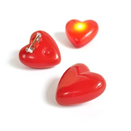 10x Flashing LED hearts – Bild 2