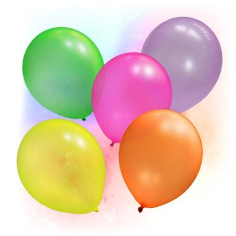 100 Ballons fluo UV