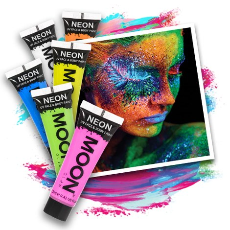 Neon UV Body Paint Set - 6 x 12 ml