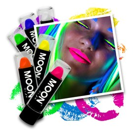Blacklight UV lippenstift - 6 kleuren set – Bild 1