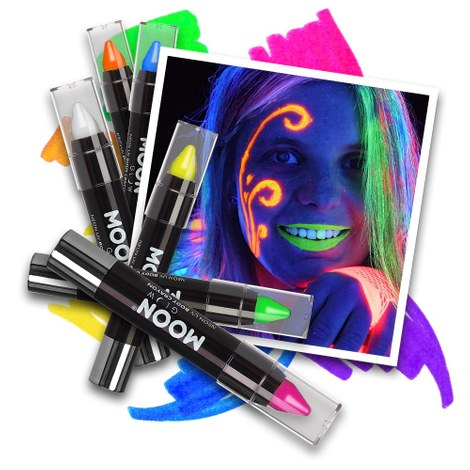 Neon UV Paint Stick - 6 kleuren