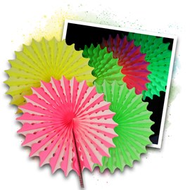 Neon Honeycomb set pink/yellow/green