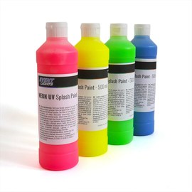 Neon UV Splash paint Set 4 x 500ml – Bild 2