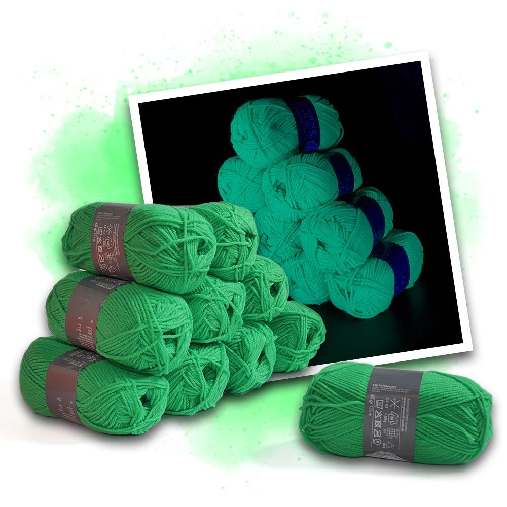 Neonfärgat grönt garn - 10 stycken - Eventlights.shop 97a0dc229adb4