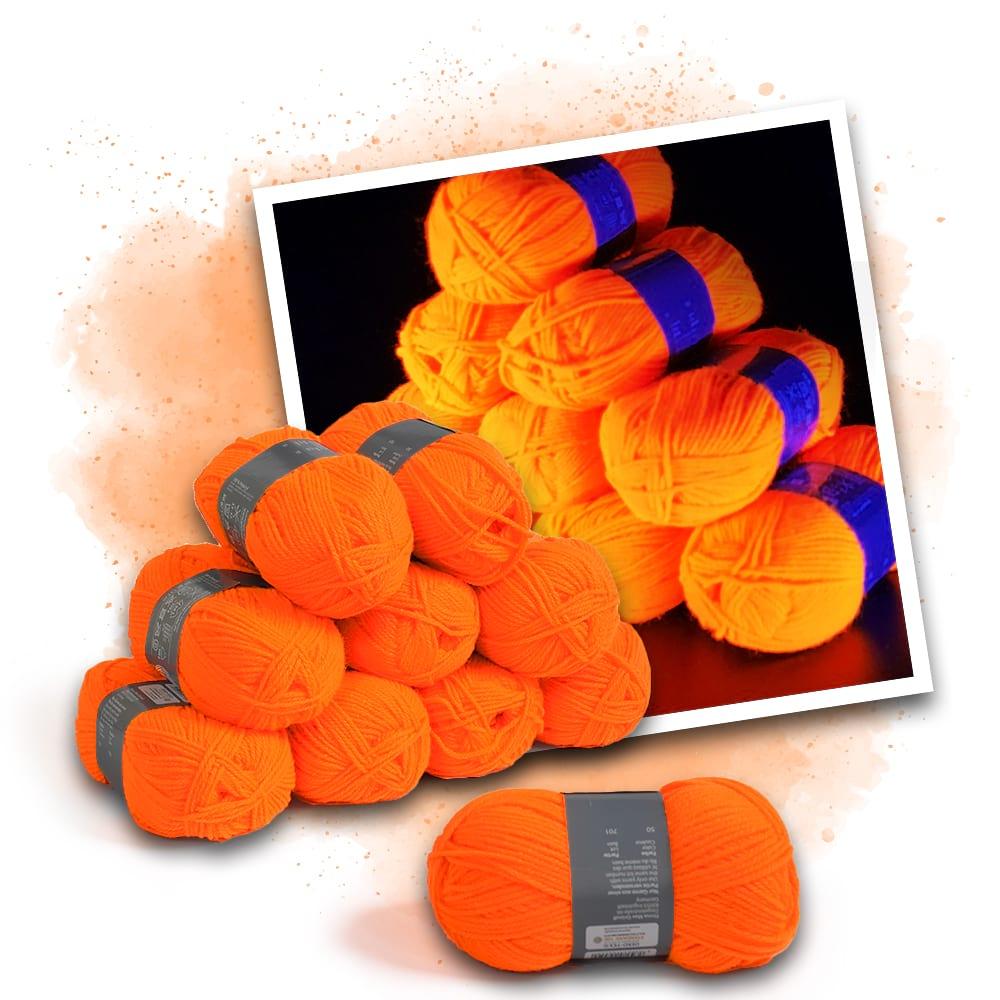 Neonfärgat garn orange - 10 stycken - Eventlights.shop 2e11ec8dec534