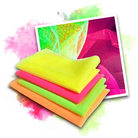 Neon UV tulle - 4 colours