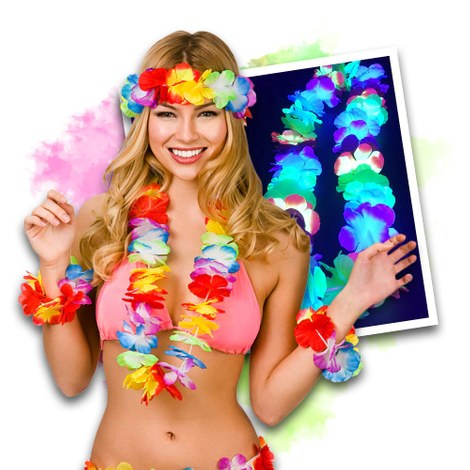 Neon UV Hawaii Party Set (12 stuks)