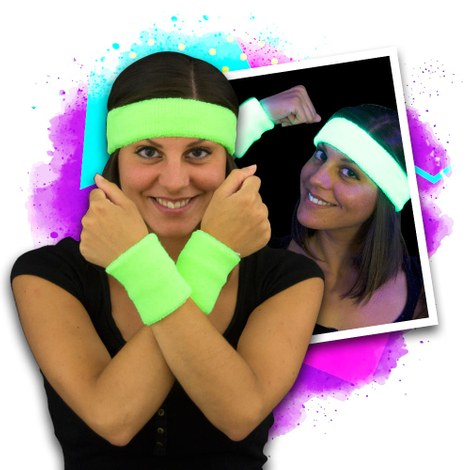 UV Fluo Sweatbands - 12 items