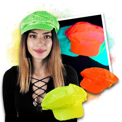 Neon UV cap set - yellow, orange, green