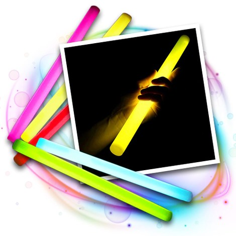 25 Glow giant sticks 360x30 mm