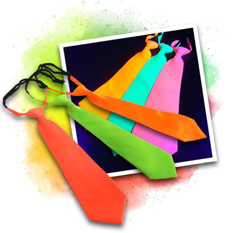 Neon UV ties - 3 colours set