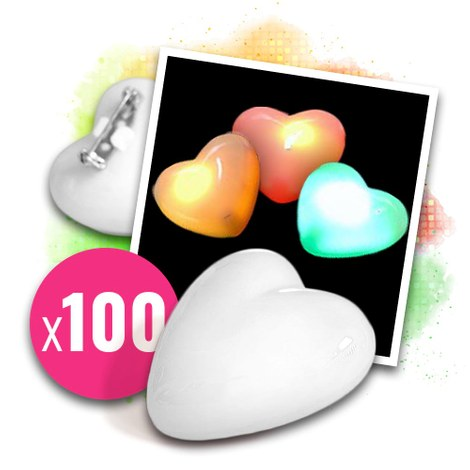 100x Love messenger flashing heart without overprint