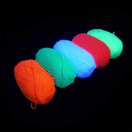 Neon UV acrylic wool - 2x5 colours – Bild 4