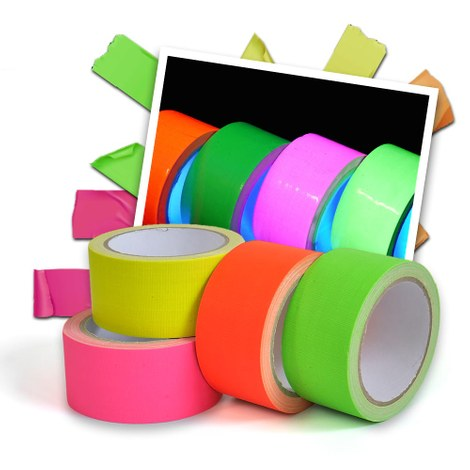 Neon UV gaffa duct tape