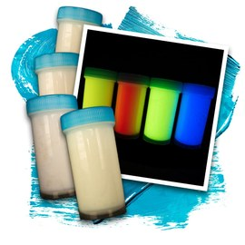 Invisible UV glow paint 4x50ml – Bild 1