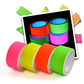 Neon UV tape - 4 colour set – Bild 1