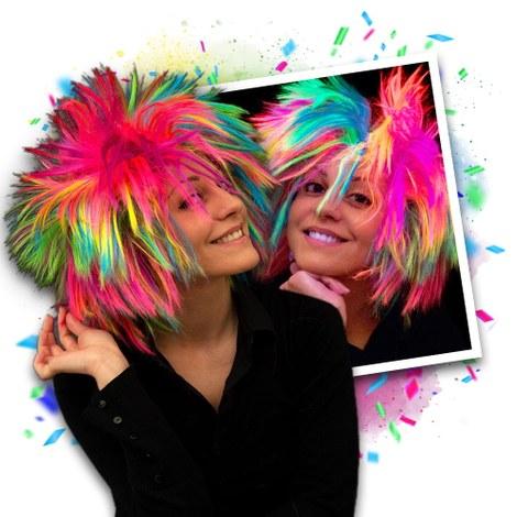 NEON Regenbogen Punk Perücke