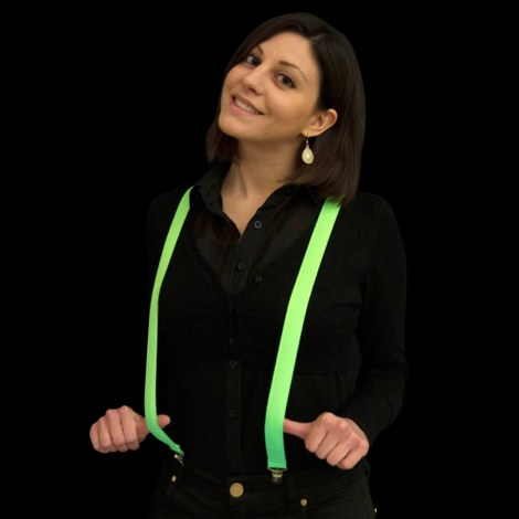 LED suspenders green