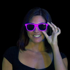 Neon UV Sunglasses pink – Bild 2