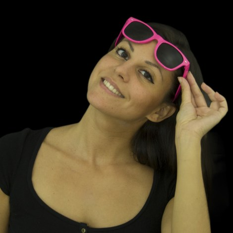 Neon UV Sunglasses pink - 12 pcs.